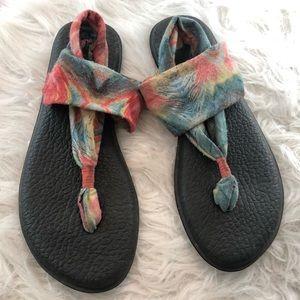 Rainbow Tie Dye Sanuk Sandals
